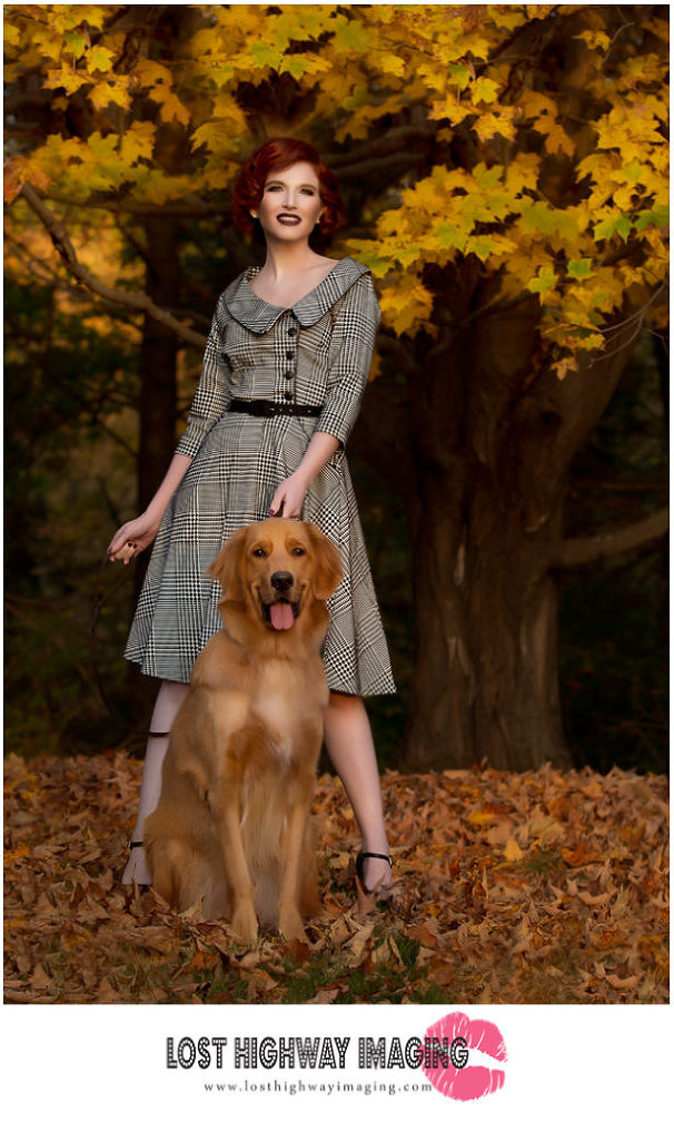 Connecticut boudoir photographer, Beth Claire from Lost Highway Imaging, captures vintage Fall Fashion images.